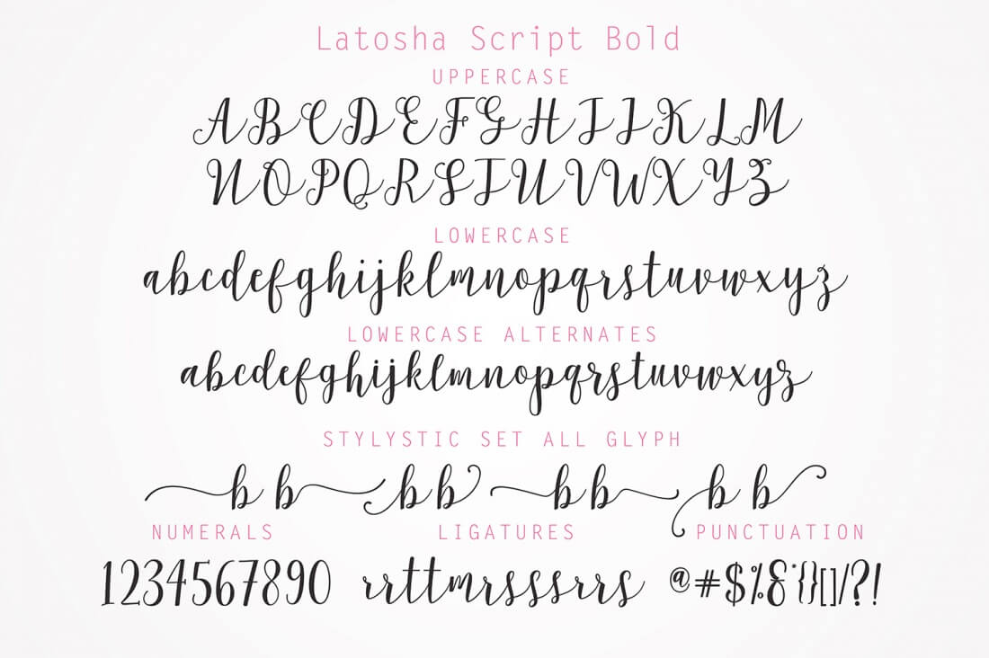 5 gorgeous  calligraphy fonts from genesis lab