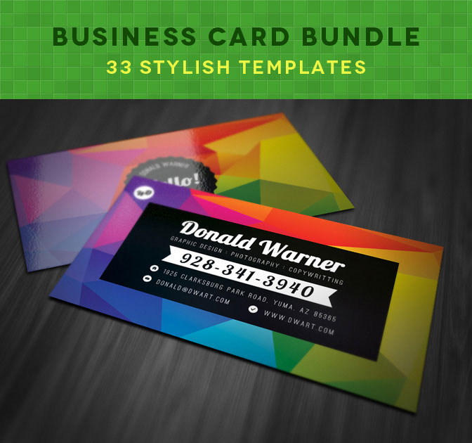 Business Card Bundle: 33 Stylish Templates - only $27!