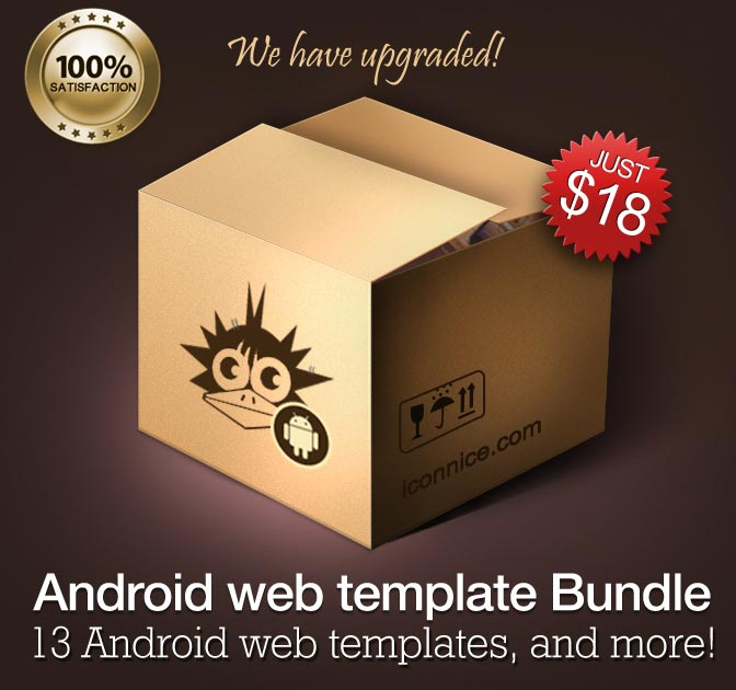 MEGA Android Bundle: Templates, Icons & more - only $18!