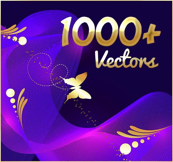 1000+ Royalty Free Vectors + 50 Free Textures - only $17!