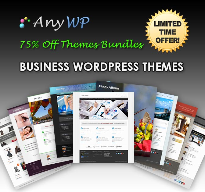 AnyWP: Choose 2 WordPress Business Themes  only $18!