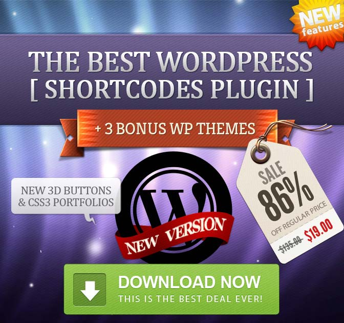 Mighty Deals - WordPress Shortcodes
