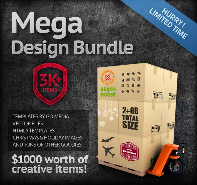 3,000 Items! MEGA Design Bundle (worth over $1,000) - only $49!