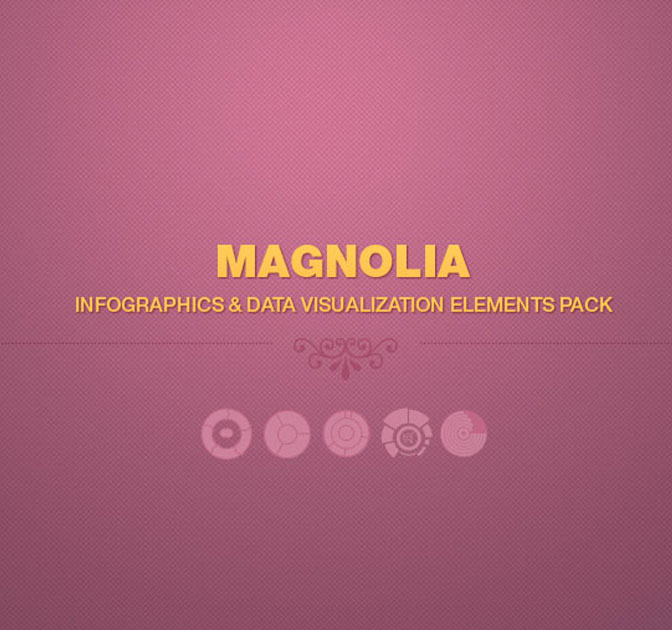 Magnolia: 150+ Professional Infographic Elements - only $9!