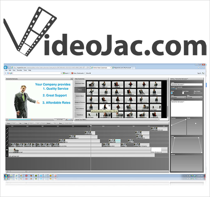 VideoJac: Sales and Marketing Video Templates - only $17 monthly!