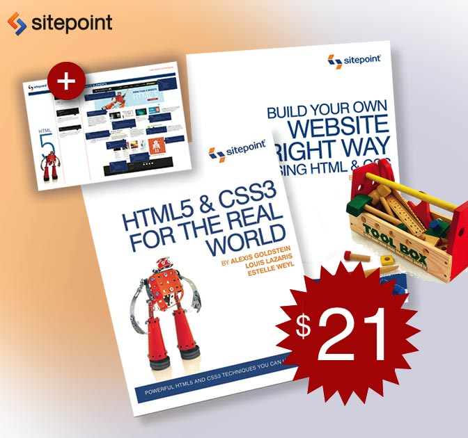 eBook Bundle: HTML and CSS for Beginners - only $21!