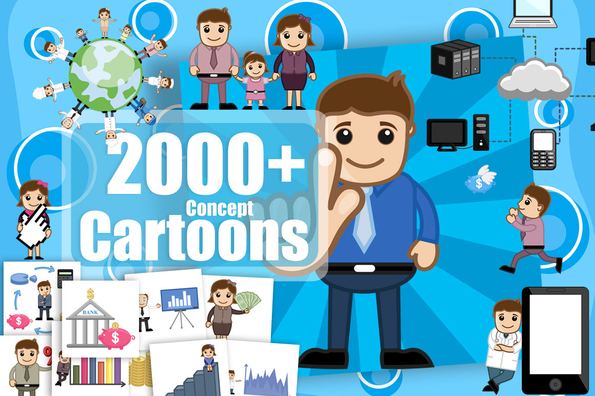 Cartoon Characters 2000s : Royalty free cartoon vectors only mightydeals