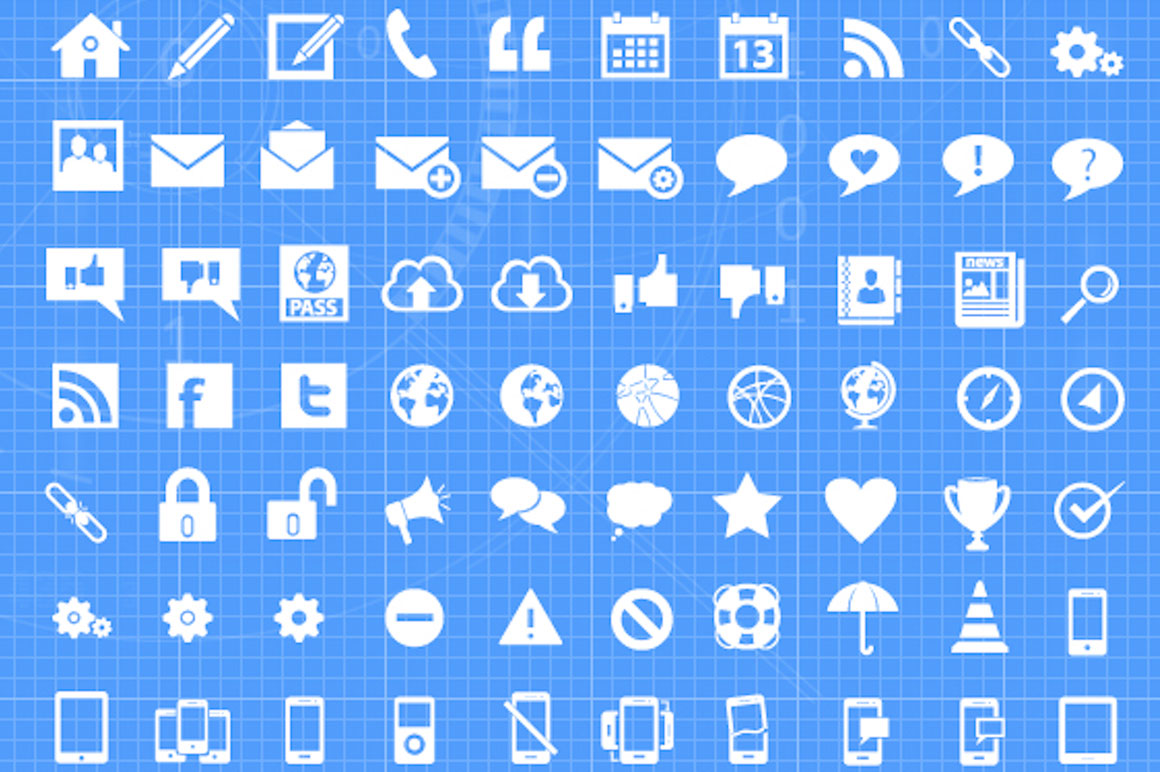 Free download: 500 Vector Mega Icon Pack - MightyDeals