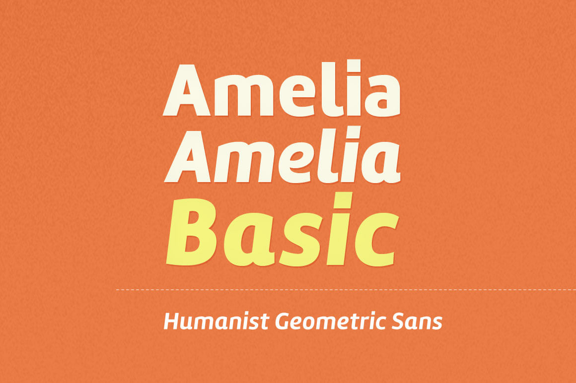 Amelia Basic Font from Tipotype (12 different styles) - only $12 ...