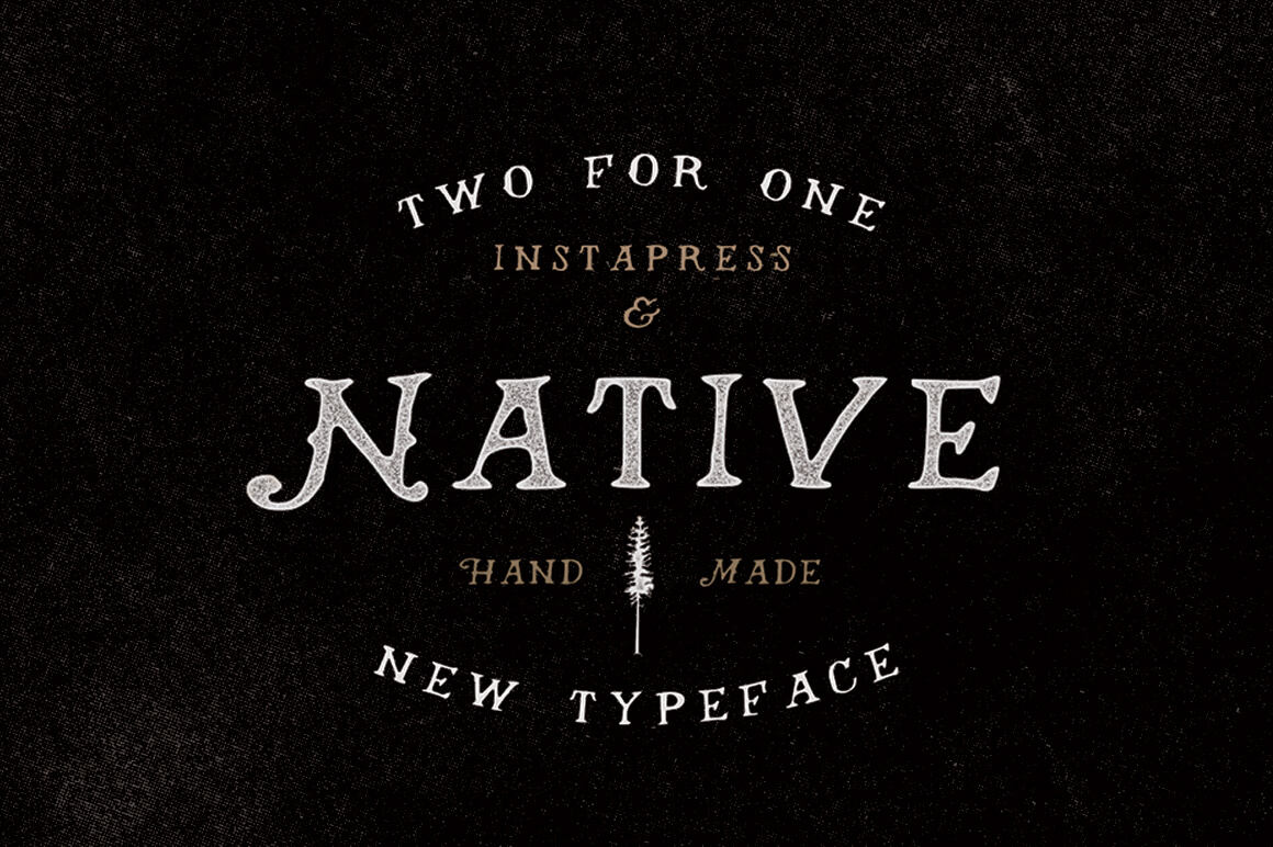 Native Font + Instapress Photoshop Action - MightyDeals