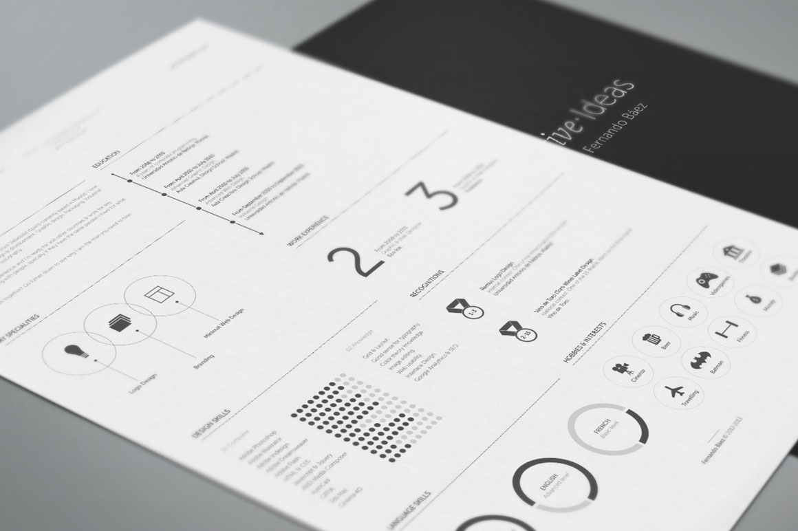 Free Resume Template By Fernando BEz  Mightydeals