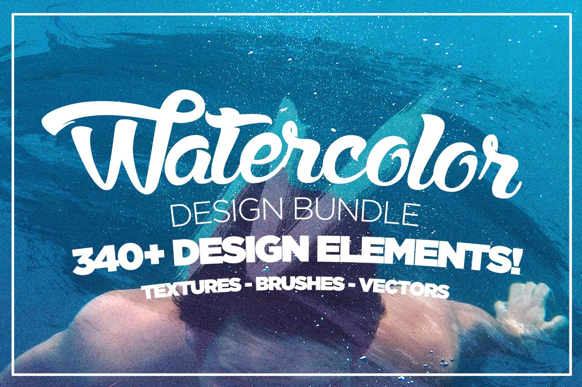 LAST DAY: The Watercolor Design Bundle (300+ elements) - only $9 ...