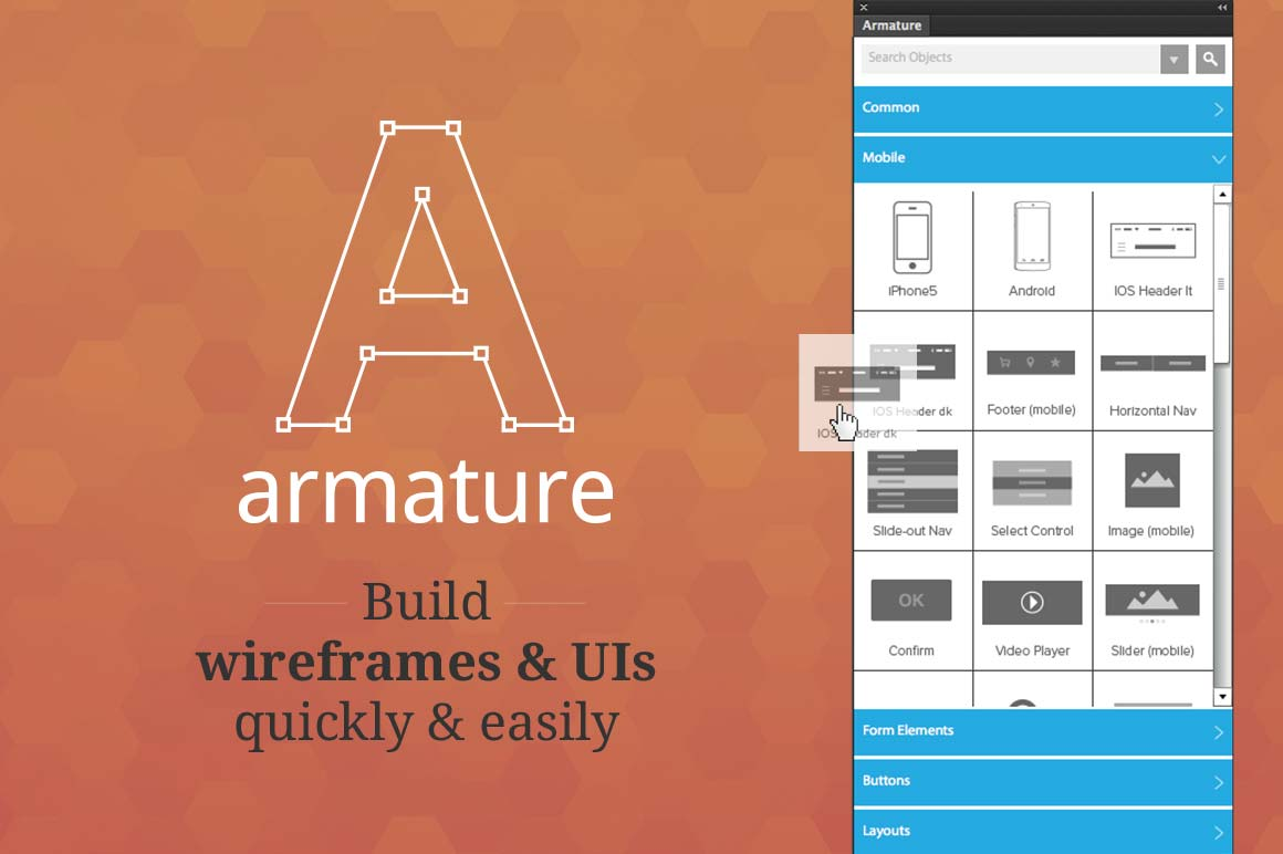 LAST DAY: Armature - Drag-N-Drop Wireframing Tool for Illustrator - only $12!