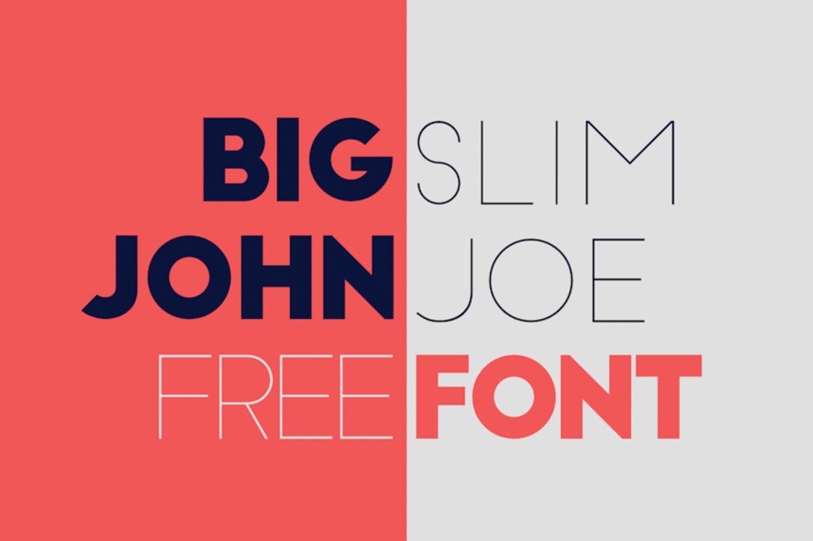 Free Fonts: Big John &