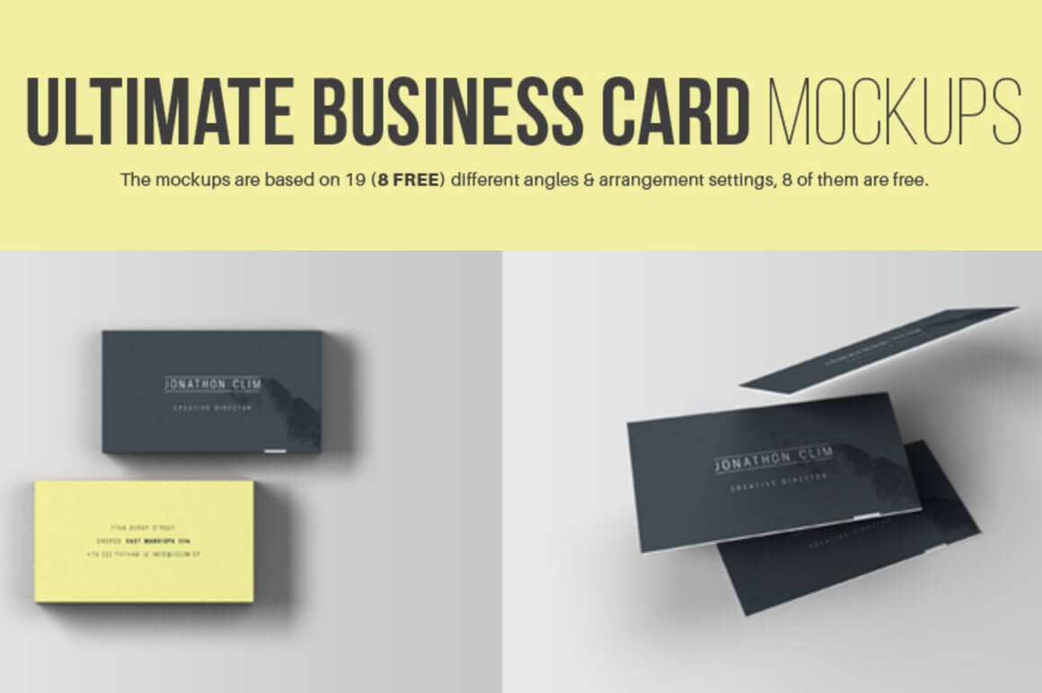 Free download 8 business card mockups mightydeals free download 8 business card mockups reheart Image collections