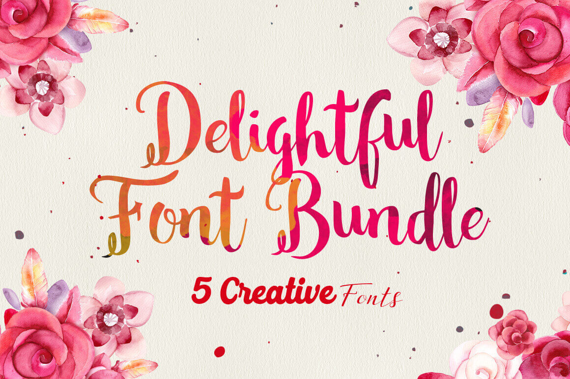 The delightful font bundle 5 creative typefaces only 12 the delightful font bundle 5 creative typefaces only 12 kristyandbryce Choice Image