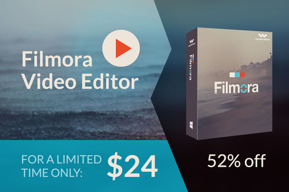 Last Day Filmora Robust High Quality Video Editor Only 24