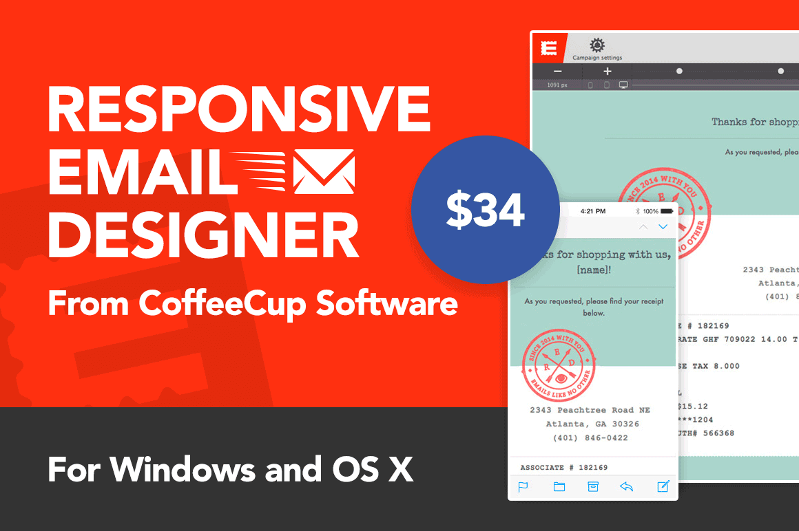 LAST DAY: Responsive Email Designer App from CoffeeCup Software - 51 ...