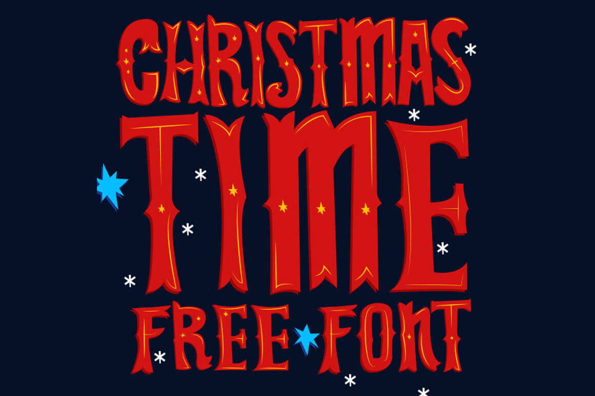 Free Download Christmas Time Font  MightyDeals