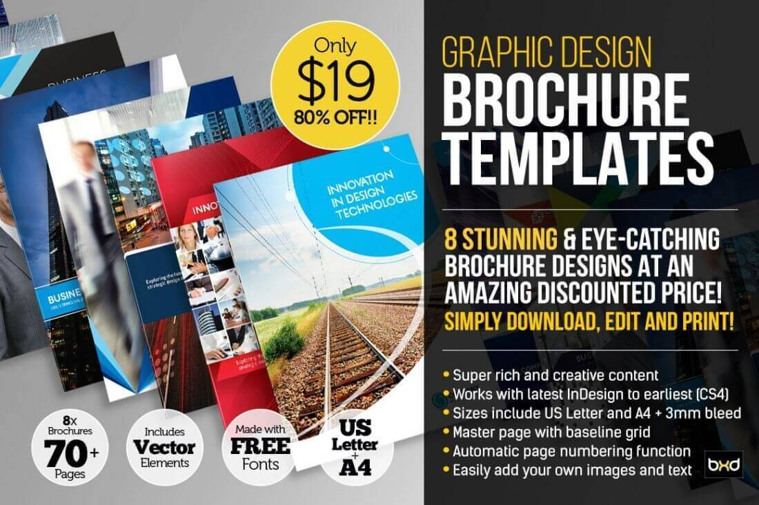 LAST DAY Professional Corporate Brochure InDesign Templates - Brochure indesign templates