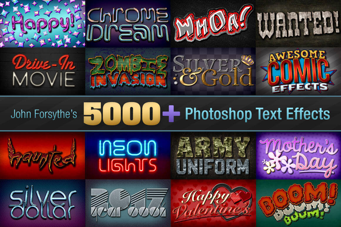 5,000+ Professional Text Effects from John Forsythe - only