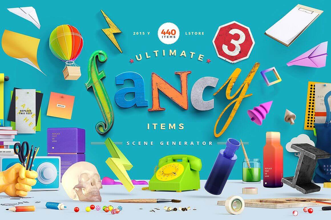Fancy Items Scene Generator (440+ Items) - only $15