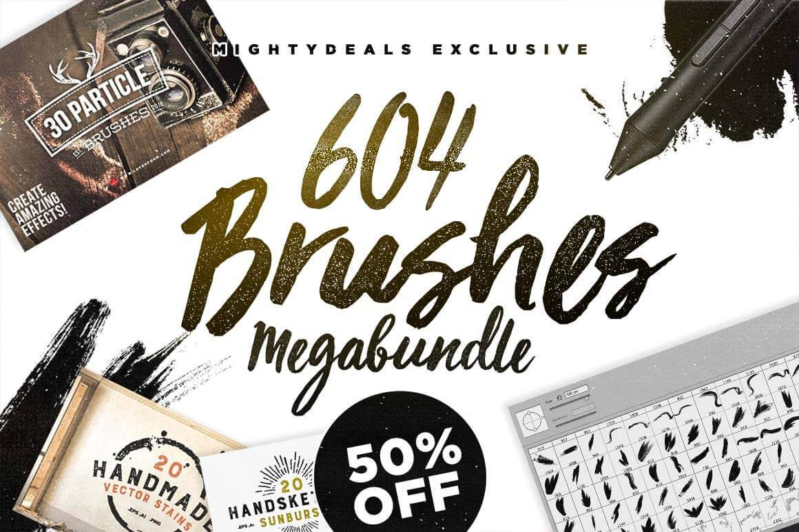 600 Premium Photoshop Brushes From Layerform Only 14 Mightydeals