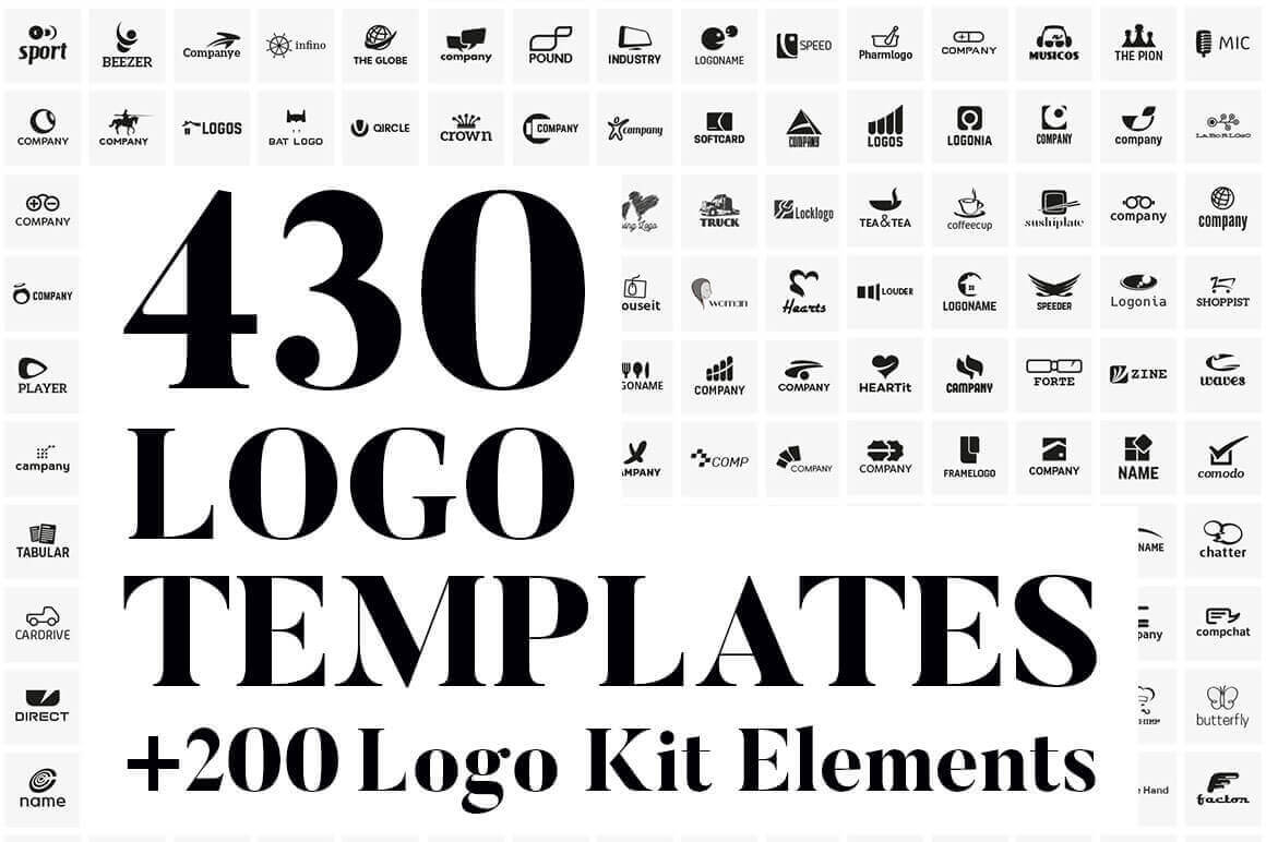 430 vector logo design templates 200 logo kit elements only 17