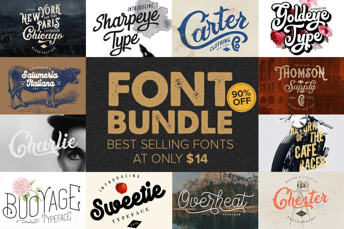 10+ Best-Selling Premium Fonts - only $14! - MightyDeals