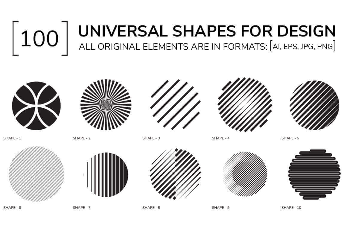 100 universal geometric shapes only 9 mightydeals