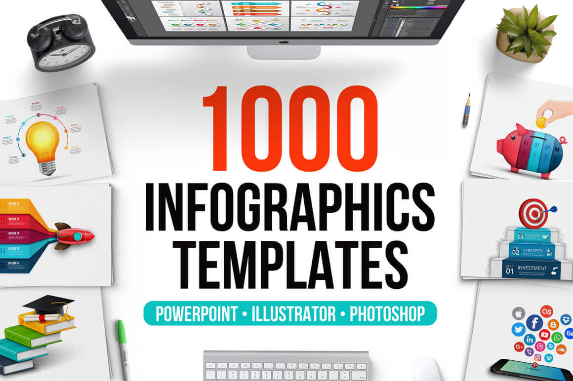 last chance: 1000 premium, customizable infographics templates