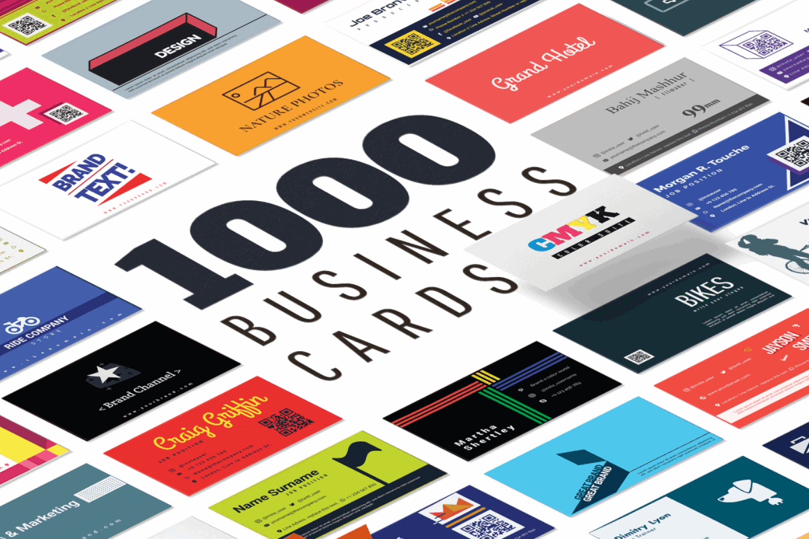 1000 Print-Ready Professional Business Card Templates - only $14 ...