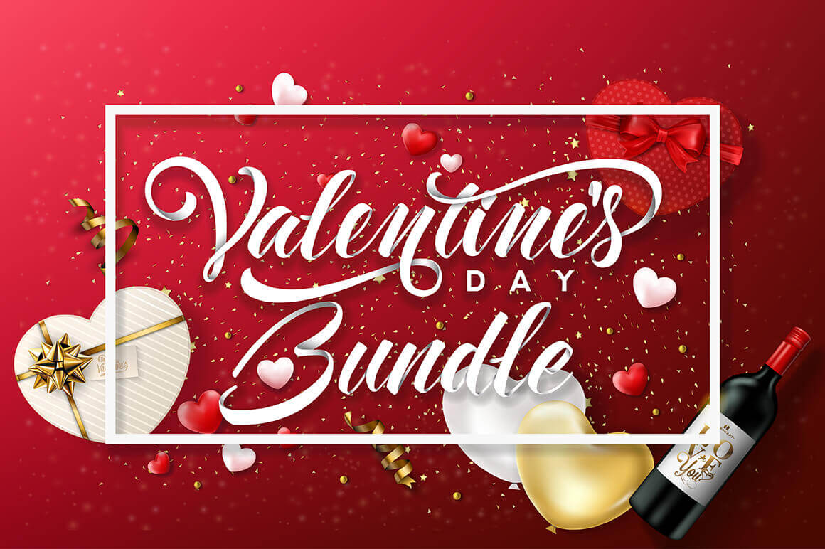 Feel The Love Valentine S Day Bundle Of 100 Vectors Only 9
