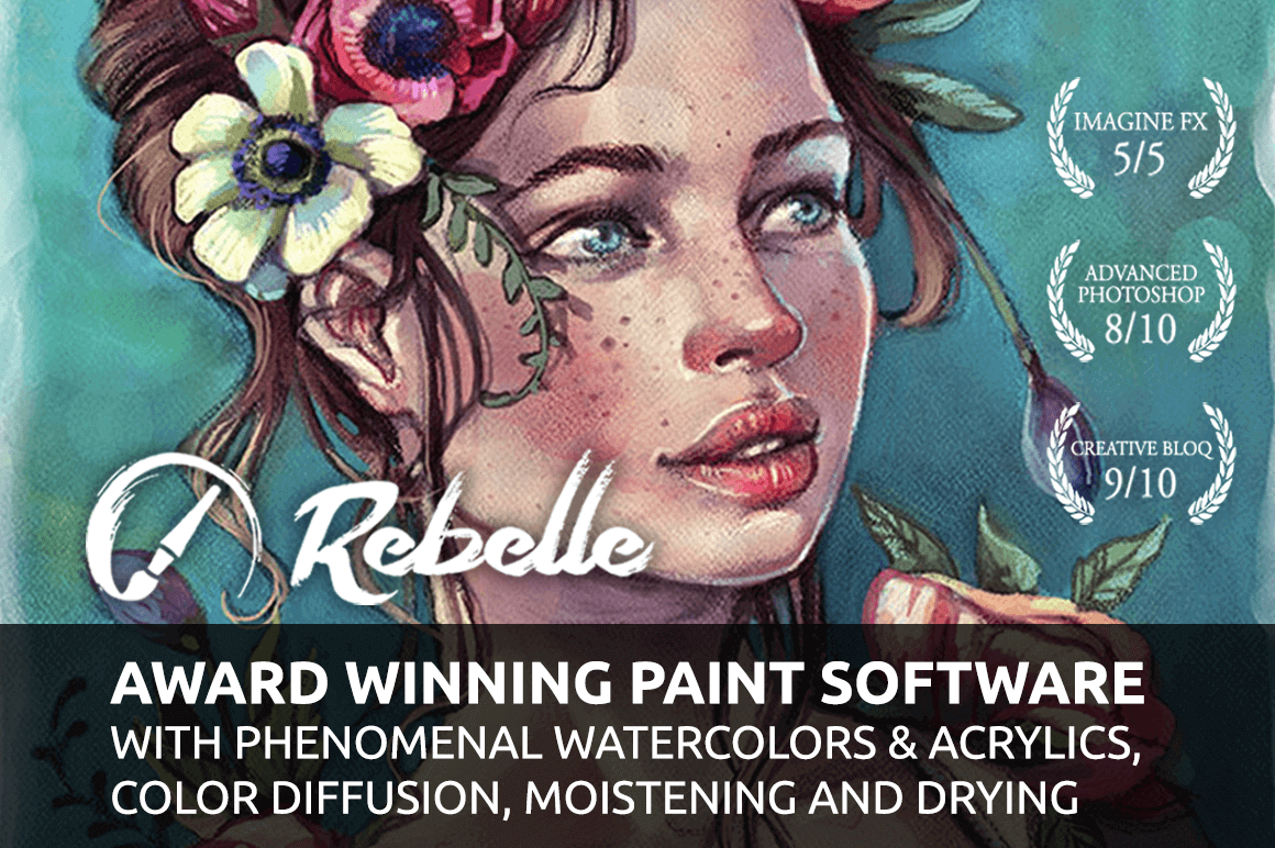 LAST CHANCE: Rebelle 2 - Real-Media Watercolor and Acrylic