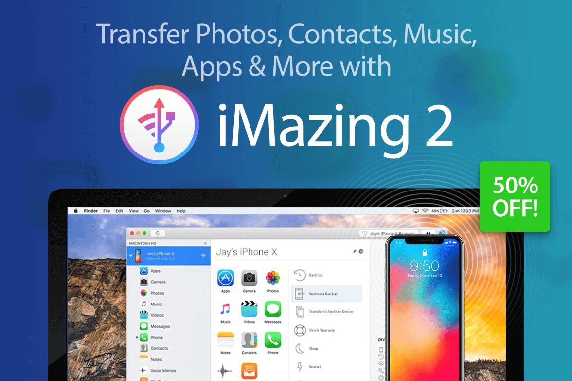 Transfer Photos, Contacts, Music, Apps & More with iMazing 2
