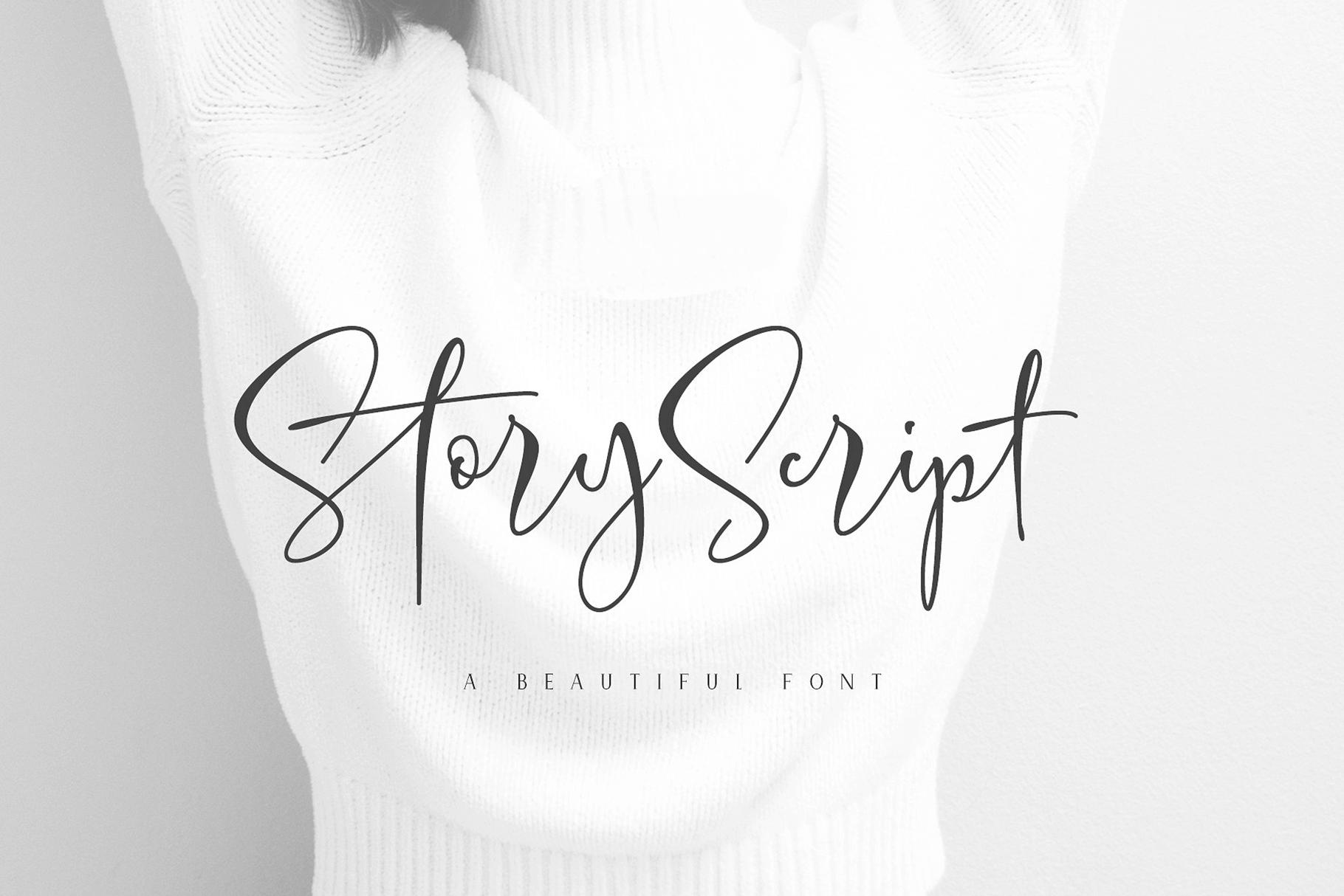 Elegant, Handwritten Script Font: Story Script - only $7! - MightyDeals