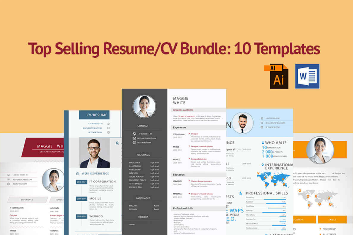 10 stylish and clean resume templates only 10 mightydeals