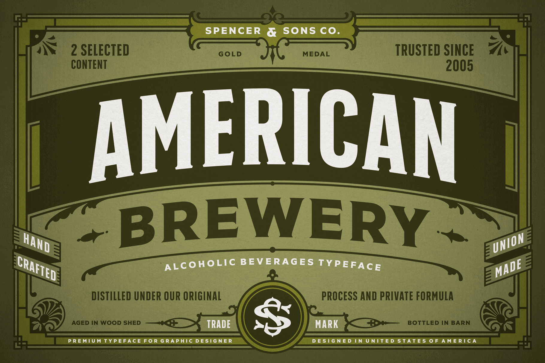top fashion great quality first rate Vintage American Brewery Font Collection - only $9 ...
