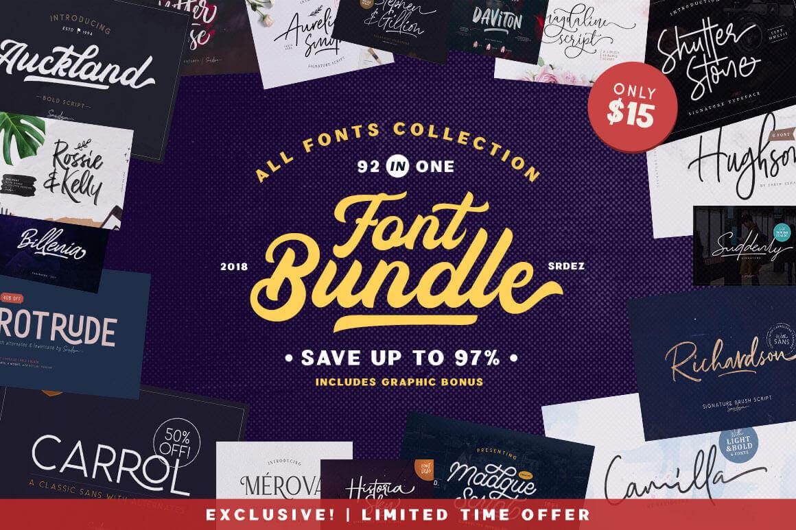 Exclusive Fonts Bundle