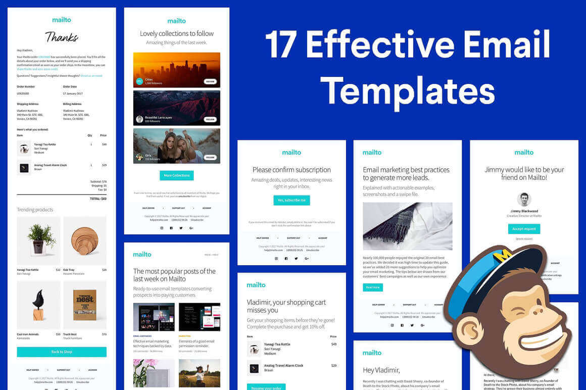 30 Customizable and Responsive Mailto HTML Email Templates   only ...