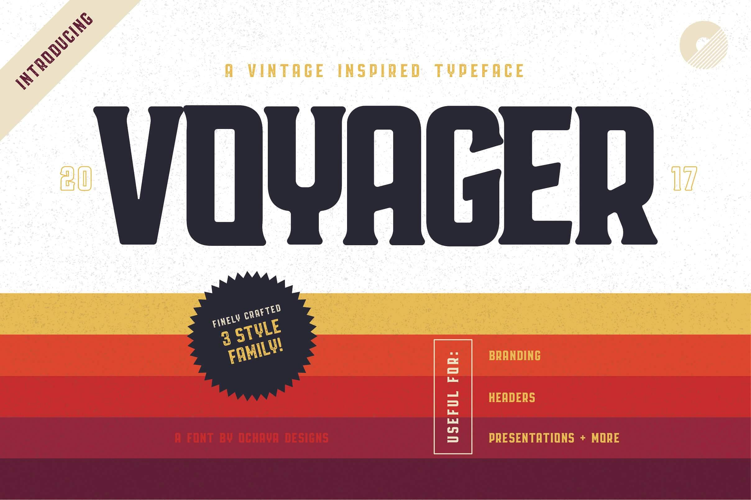 Free Download: Voyager Typeface - MightyDeals