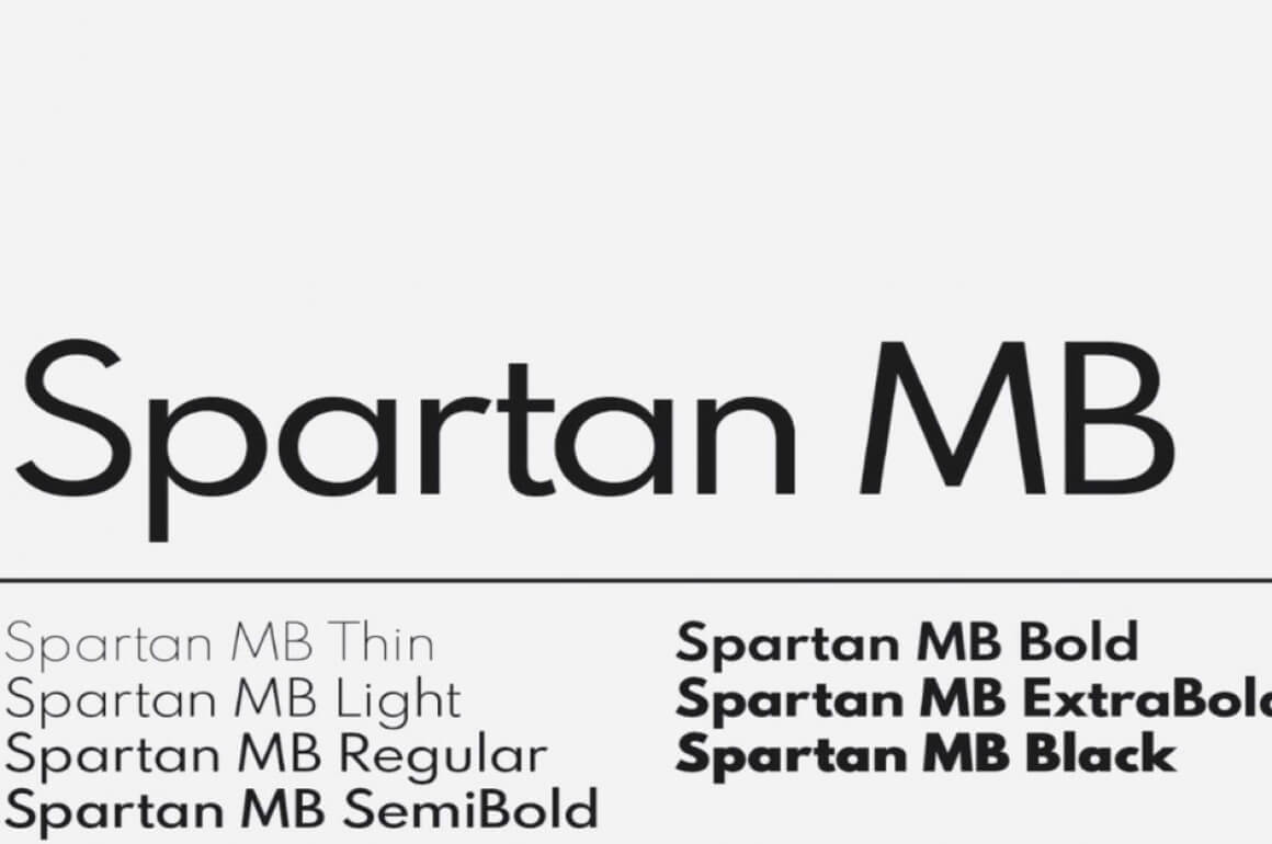 Free Download: Spartan Typeface - MightyDeals