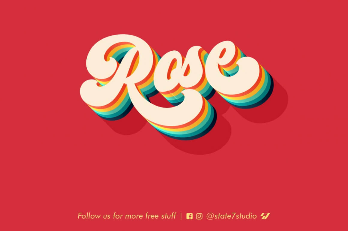 Free Download: Rose Text Effect - MightyDeals