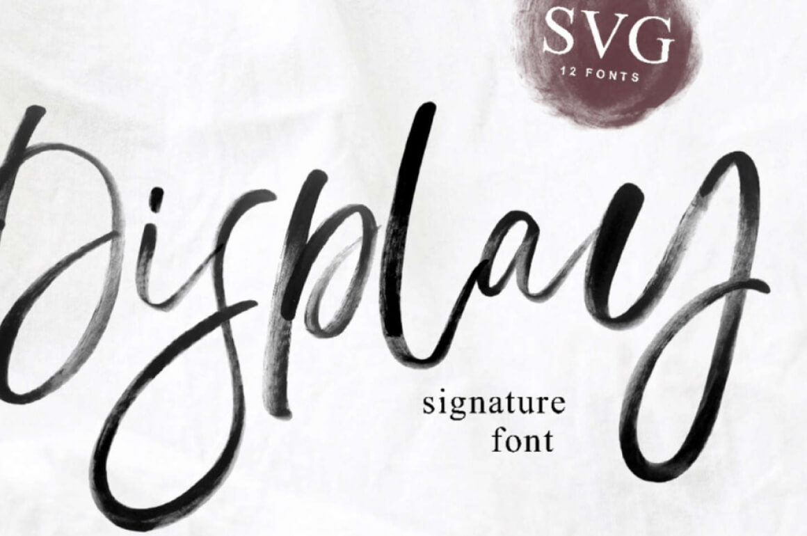 Free Download: Display SVG Font - MightyDeals