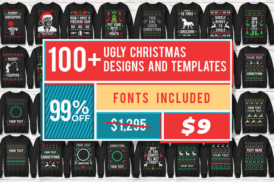 100 Customizable Ugly Christmas Sweater Designs Only 9 Mightydeals,Bezalel Academy Of Arts And Design Jerusalem
