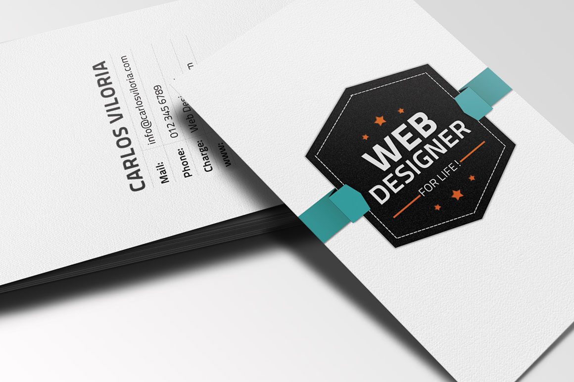 Free download: Retro Business Card PSD - MightyDeals