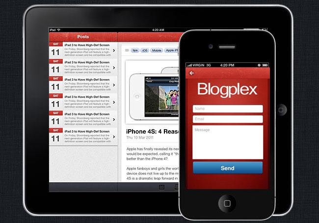 Iphone App Design Template Gallery - Template Design Ideas