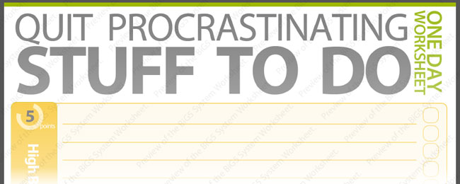 Printables Procrastination Worksheet stop procrastinating and get things done the easy way mightydeals week worksheet