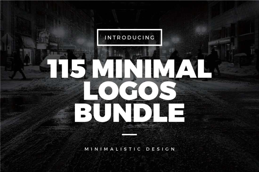 115 minimal vintage logos bundle only mightydeals for Minimal art logo