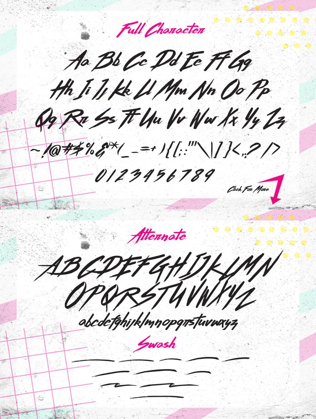 '80s Inspired Hand-Made Brush Script Thunderstorm Typeface ...